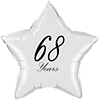 68 YEARS CLASSY BLACK STAR BALLOON PARTY SUPPLIES