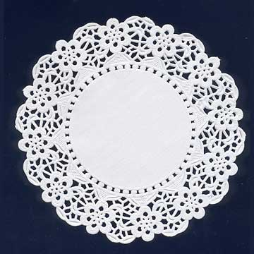 Click for larger picture of WHITE DOILIES (16.5IN. - 4 CT.) PARTY SUPPLIES