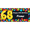BALLOON 68TH BIRTHDAY CUSTOMIZED BANNER PARTY SUPPLIES