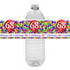 68TH BALLOON BLAST WATER BOTTLE LABEL PARTY SUPPLIES