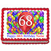 68TH BIRTHDAY BALLOON BLAST EDIBLE IMAGE PARTY SUPPLIES