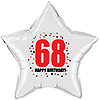 68TH BIRTHDAY STAR BALLOON PARTY SUPPLIES