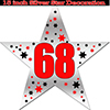 68TH SILVER STAR DECORATION PARTY SUPPLIES