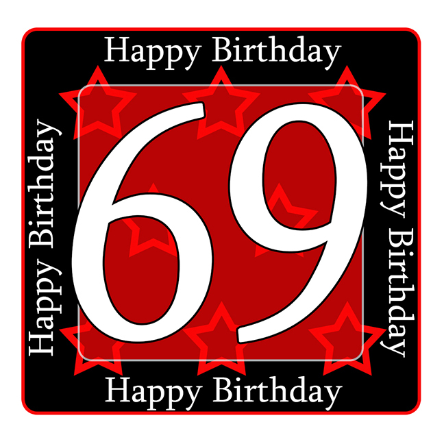 69 Happy Birthday Party Supplies 69th Coaster
