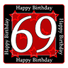 69TH BIRTHDAY COASTER PARTY SUPPLIES