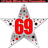 69TH SILVER STAR DECORATION PARTY SUPPLIES