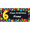 BALLOON 6TH BIRTHDAY CUSTOMIZED BANNER PARTY SUPPLIES
