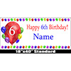 6TH BIRTHDAY BALLOON BLAST NAME BANNER PARTY SUPPLIES