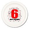 6TH BIRTHDAY DINNER PLATE 8-PKG PARTY SUPPLIES