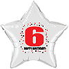 6TH BIRTHDAY STAR BALLOON PARTY SUPPLIES