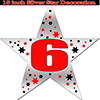 6TH SILVER STAR DECORATION PARTY SUPPLIES