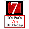 PERSONALIZED 7 YEAR OLD YARD SIGN PARTY SUPPLIES