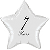 7 YEARS CLASSY BLACK STAR BALLOON PARTY SUPPLIES