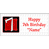PERSONALIZED  7 YEAR OLD BANNER PARTY SUPPLIES