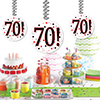 70! DANGLER DECORATION 3/PKG PARTY SUPPLIES
