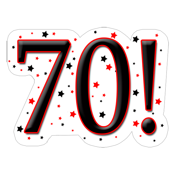 70! DECORATION (15X22 IN.) PARTY SUPPLIES