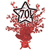 70! RED STAR CENTERPIECE PARTY SUPPLIES