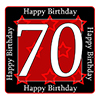 70TH BIRTHDAY COASTER PARTY SUPPLIES