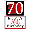 PERSONALIZED 70 YEAR OLD YARD SIGN PARTY SUPPLIES