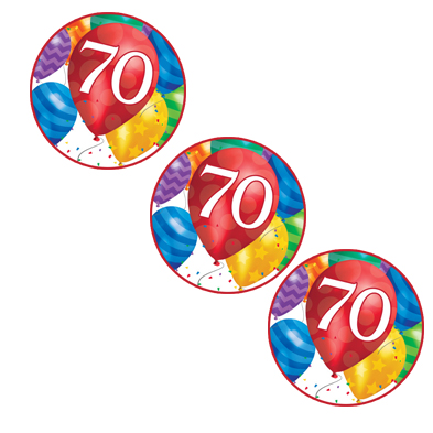 70TH BALLOON BLAST DECO FETTI PARTY SUPPLIES