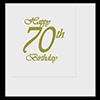 70TH CLASSY BIRTHDAY LUNCHEON NAPKIN PARTY SUPPLIES
