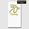 70TH CLASSY BIRTHDAY DINNER CATER NAPKIN PARTY SUPPLIES