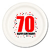 70TH BIRTHDAY DINNER PLATE 8-PKG PARTY SUPPLIES