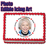 70TH BIRTHDAY PHOTO EDIBLE ICING ART PARTY SUPPLIES