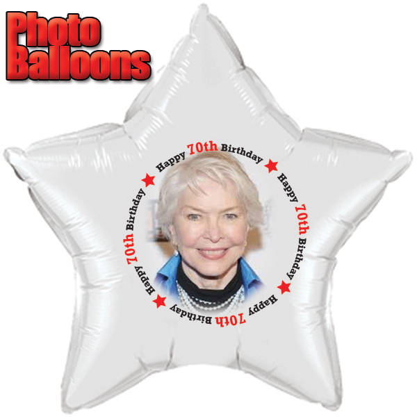 Click for larger picture of 70TH BIRTHDAY PHOTO BALLOON PARTY SUPPLIES