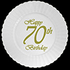 70TH CLASSY BIRTHDAY PLASTIC DESSERT PLA PARTY SUPPLIES