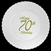 70TH CLASSY BIRTHDAY PLASTIC DINNER PLAT PARTY SUPPLIES