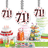 71! DANGLER DECORATION 3/PKG PARTY SUPPLIES