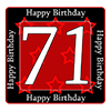 71ST BIRTHDAY COASTER PARTY SUPPLIES