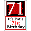 PERSONALIZED 71 YEAR OLD YARD SIGN PARTY SUPPLIES