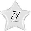 71 YEARS CLASSY BLACK STAR BALLOON PARTY SUPPLIES