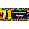 BALLOON 71ST BIRTHDAY CUSTOMIZED BANNER PARTY SUPPLIES