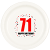 71ST BIRTHDAY DINNER PLATE 8-PKG PARTY SUPPLIES