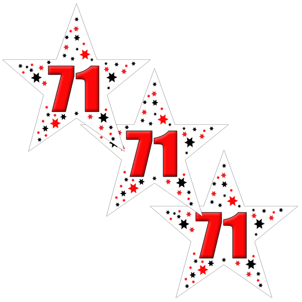71ST BIRTHDAY STAR DECO FETTI PARTY SUPPLIES