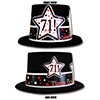 71ST BIRTHDAY TIME TO CELEBRATE TOP HAT PARTY SUPPLIES