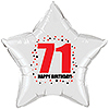 71ST BIRTHDAY STAR BALLOON PARTY SUPPLIES