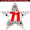 71ST SILVER STAR DECORATION PARTY SUPPLIES
