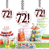 72! DANGLER DECORATION 3/PKG PARTY SUPPLIES
