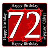 72ND BIRTHDAY COASTER PARTY SUPPLIES