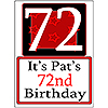 PERSONALIZED 72 YEAR OLD YARD SIGN PARTY SUPPLIES
