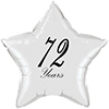 72 YEARS CLASSY BLACK STAR BALLOON PARTY SUPPLIES