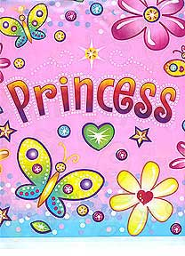 Click for larger picture of DISCONTINUED PRINCESS TABLECOVER PARTY SUPPLIES