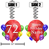 72ND BALLOON BLAST JUMBO CUSTOM DANGLER PARTY SUPPLIES
