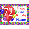 72ND BALLOON BLAST CUSTOMIZED PLACEMAT PARTY SUPPLIES