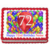 72ND BIRTHDAY BALLOON BLAST EDIBLE IMAGE PARTY SUPPLIES