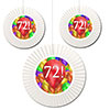 72ND BIRTHDAY BALLOON BLAST FAN DECORATI PARTY SUPPLIES